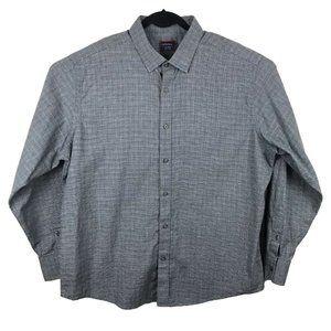 UNTUCKit Gray Plaid Button Front Soft Cotton Shirt